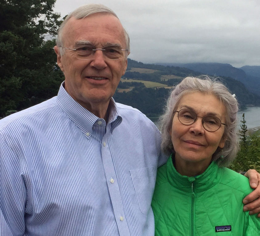 Gene Albrecht -- with Paula Columbia Gorge