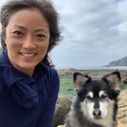 Eileen Rhee with her dog