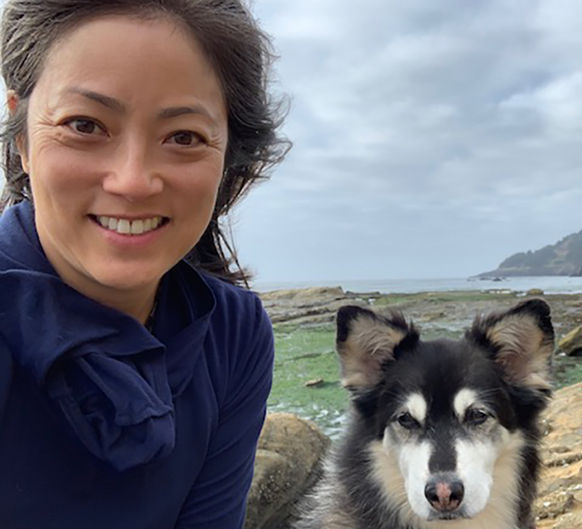 Eileen Rhee with her dog