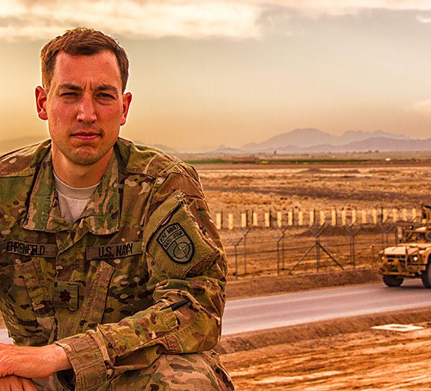 Former U.S. Navy commander Jesse Ehrenfeld during his deployment in Afghanistan
